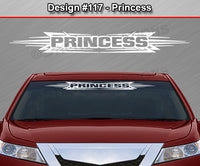 "Design #117 Princess - Windshield Window Tribal Accent Vinyl Sticker Decal Graphic Banner 36""x4.25""+"