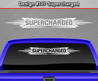 "Design #117 Supercharged - Windshield Window Tribal Accent Vinyl Sticker Decal Graphic Banner 36""x4.25""+"
