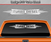 "Design #117 Turbo Diesel - Windshield Window Tribal Accent Vinyl Sticker Decal Graphic Banner 36""x4.25""+"