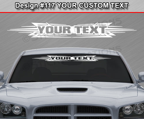 "Design #117 Your Text - Custom Personalized Windshield Window Tribal Accent Vinyl Sticker Decal Graphic Banner 36""x4.25""+"