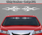 "Design #119 - 36""x4.25"" + Windshield Window Tribal Flame Vinyl Sticker Decal Graphic Banner"