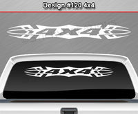 "Design #120 4x4 - Windshield Window Tribal Accent Vinyl Sticker Decal Graphic Banner Truck 36""x4.25""+"