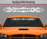 "Design #120 Cowboy - Windshield Window Tribal Accent Vinyl Sticker Decal Graphic Banner 36""x4.25""+"
