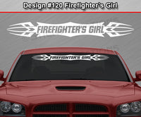 "Design #120 Firefighter's Girl - Windshield Window Tribal Accent Vinyl Sticker Decal Graphic Banner 36""x4.25""+"