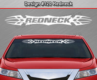 "Design #120 Redneck - Windshield Window Tribal Accent Vinyl Sticker Decal Graphic Banner 36""x4.25""+"