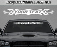 "Design #120 Your Text - Custom Personalized Windshield Window Tribal Accent Vinyl Sticker Decal Graphic Banner 36""x4.25""+"