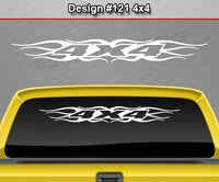 "Design #121 4x4 - Windshield Window Tribal Flame Vinyl Sticker Decal Graphic Banner Truck 36""x4.25""+"