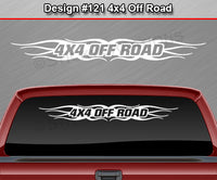 "Design #121 4x4 Off Road - Windshield Window Tribal Flame Vinyl Sticker Decal Graphic Banner Truck 36""x4.25""+"