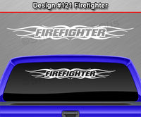 "Design #121 Firefighter - Windshield Window Tribal Flame Vinyl Sticker Decal Graphic Banner 36""x4.25""+"