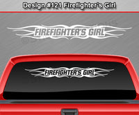 "Design #121 Firefighter's Girl - Windshield Window Tribal Flame Vinyl Sticker Decal Graphic Banner 36""x4.25""+"