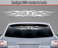 "Design #121 Jesus Is Lord - Windshield Window Tribal Flame Vinyl Sticker Decal Graphic Banner 36""x4.25""+"