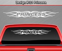 "Design #121 Princess - Windshield Window Tribal Flame Vinyl Sticker Decal Graphic Banner 36""x4.25""+"
