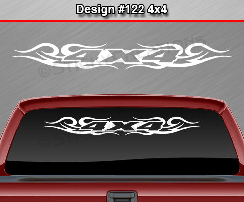 "Design #122 4x4 - Windshield Window Tribal Swirl Vinyl Sticker Decal Graphic Banner Truck 36""x4.25""+"