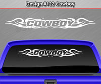 "Design #122 Cowboy - Windshield Window Tribal Curls Vinyl Sticker Decal Graphic Banner 36""x4.25""+"