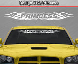 "Design #122 Princess - Windshield Window Tribal Curls Vinyl Sticker Decal Graphic Banner 36""x4.25""+"
