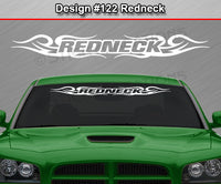 "Design #122 Redneck - Windshield Window Tribal Swirl Vinyl Sticker Decal Graphic Banner 36""x4.25""+"