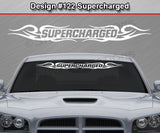 "Design #122 Supercharged - Windshield Window Tribal Curls Vinyl Sticker Decal Graphic Banner 36""x4.25""+"