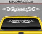 "Design #122 Turbo Diesel - Windshield Window Tribal Curls Vinyl Sticker Decal Graphic Banner 36""x4.25""+"