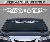 "Design #122 Your Text - Custom Personalized Windshield Window Tribal Swirl Vinyl Sticker Decal Graphic Banner 36""x4.25""+"