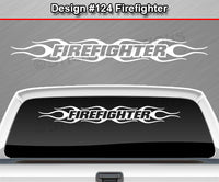 "Design #124 Firefighter - Windshield Window Tribal Flame Vinyl Sticker Decal Graphic Banner 36""x4.25""+"