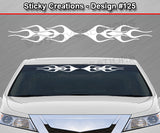 "Design #125 - 36""x4.25"" + Windshield Window Flame Flaming Vinyl Sticker Decal Graphic Banner"