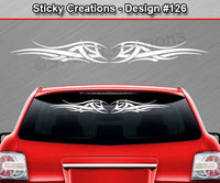 "Design #126 - 36""x4.25"" + Windshield Window Tribal Wings Vinyl Sticker Decal Graphic Banner"