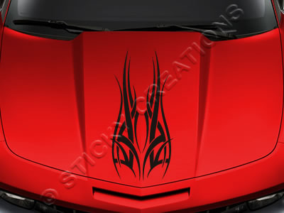 Design #126 Hood - Tribal Accent Decal Sticker Vinyl Graphic Car Truck SUV Vehicle