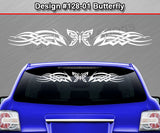 "Design #128 Butterfly - Windshield Window Tribal Celtic Knot Vinyl Sticker Decal Graphic Banner 36""x4.25""+"