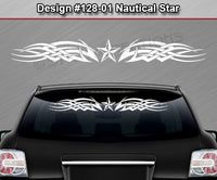 "Design #128 Nautical Star - Windshield Window Tribal Celtic Knot Vinyl Sticker Decal Graphic Banner 36""x4.25""+"