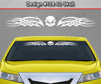 "Design #128 Skull - Windshield Window Tribal Celtic Knot Vinyl Sticker Decal Graphic Banner 36""x4.25""+"