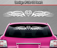 "Design #128 Heart - Windshield Window Tribal Celtic Knot Vinyl Sticker Decal Graphic Banner 36""x4.25""+"