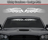 "Design #128 - 36""x4.25"" + Windshield Window Tribal Celtic Knot Vinyl Sticker Decal Graphic Banner"