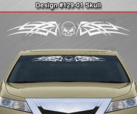 "Design #129 Skull - Windshield Window Tribal Celtic Knot Vinyl Sticker Decal Graphic Banner 36""x4.25""+"