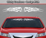 "Design #129 - 36""x4.25"" + Windshield Window Tribal Celtic Knot Vinyl Sticker Decal Graphic Banner"