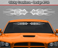 "Design #130 - 36""x4.25"" + Windshield Window Flame Tribal Vinyl Sticker Decal Graphic Banner"