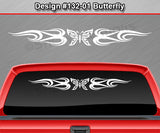 "Design #132 Butterfly - Windshield Window Tribal Flame Vinyl Sticker Decal Graphic Banner 36""x4.25""+"