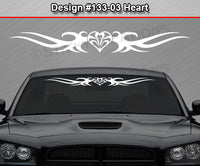 "Design #133 Heart - Windshield Window Tribal Thorns Vinyl Sticker Decal Graphic Banner 36""x4.25""+"