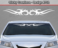 "Design #133 - 36""x4.25"" + Windshield Window Tribal Spikes Vinyl Sticker Decal Graphic Banner"