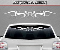 "Design #134 Butterfly - Windshield Window Tribal Curls Vinyl Sticker Decal Graphic Banner 36""x4.25""+"