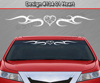 "Design #134 Heart - Windshield Window Tribal Curls Vinyl Sticker Decal Graphic Banner 36""x4.25""+"