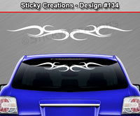 "Design #134 - 36""x4.25"" + Windshield Window Tribal Swirl Vinyl Sticker Decal Graphic Banner"