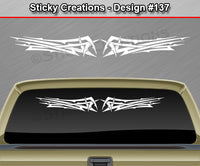 "Design #137 - 36""x4.25"" + Windshield Window Tribal Scallop Vinyl Sticker Decal Graphic Banner"