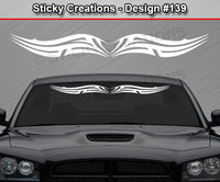 "Design #139 - 36""x4.25"" + Windshield Window Tribal Scallop Vinyl Sticker Decal Graphic Banner"
