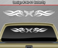 "Design #140 Butterfly - Windshield Window Tribal Accent Vinyl Sticker Decal Graphic Banner 36""x4.25""+"