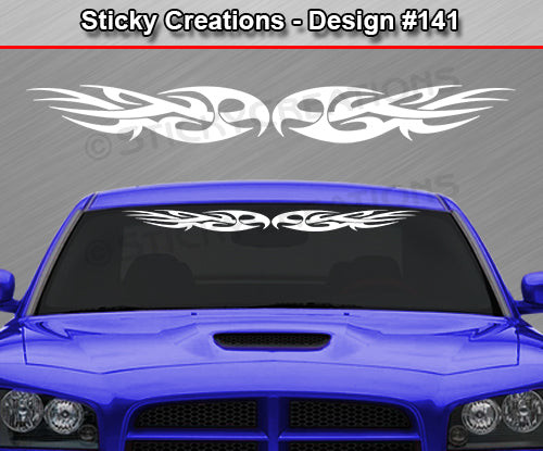 "Design #141 - 36""x4.25"" + Windshield Window Tribal Thorns Vinyl Sticker Decal Graphic Banner"