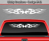 "Design #143 - 36""x4.25"" + Windshield Window Tribal Flame Vinyl Sticker Decal Graphic Banner"