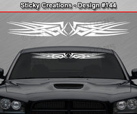 "Design #144 - 36""x4.25"" + Windshield Window Tribal Celtic Knot Vinyl Sticker Decal Graphic Banner"