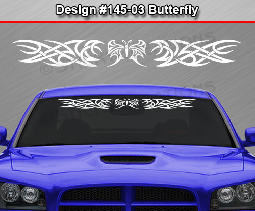 "Design #145 Butterfly - Windshield Window Tribal Accent Vinyl Sticker Decal Graphic Banner 36""x4.25""+"
