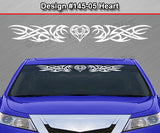 "Design #145 Heart - Windshield Window Tribal Accent Vinyl Sticker Decal Graphic Banner 36""x4.25""+"