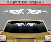 "Design #146 - 36""x4.25"" + Windshield Window Tribal Accent Vinyl Sticker Decal Graphic Banner"